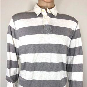 J.CREW Men's Long Sleeve Polo Sweater Shirt SZ XL